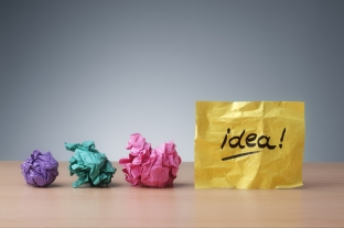 http://www.dreamstime.com/stock-photography-evolving-idea-concept-crumpled-paper-ball-brainstorming-good-image45416542